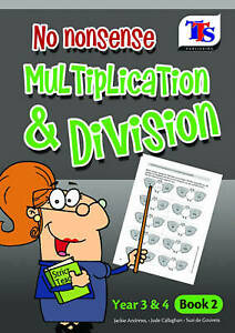 Kids Maths book Multiplication Division Help with maths Educational Home Age 7-9