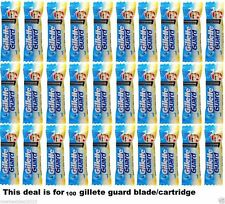 100 piece Gillette Guard Razor blade cartidge gilette gilete safty shaving blade