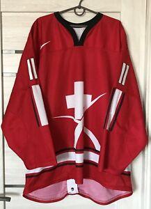 Switzerland Hockey Team Pro Jersey Shirt Nike #11 size 56