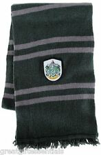 HARRY POTTER *LICENSED* Slytherin House *REAL* LAMBS WOOL SCARF w/ CREST NEW