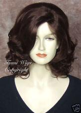 Classic Side Parting Wig in Dark Cherry Brown /Brilliant Fibre Brilliant Quality
