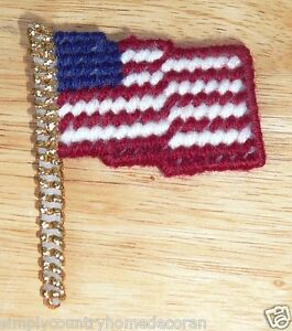 FLAG PINS & MAGNETS~Handcrafted~3 Inches By 2&1/2 Inches~Colors Vary~NEW