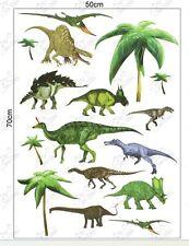 Claro Transparente frontera Dinosaurios 50 X 70cm Chicos Niños pared calcomanía de pegatinas