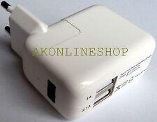 2 FACH USB NETZADAPTER 5V-230V 2A NETZTEIL SCHNELL REISELADEGERÄT F. Iphone iPad