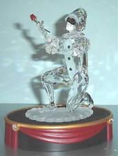 Swarovski Masquerade Harlequin Crystal Figurine 2001 Plaque & Base New