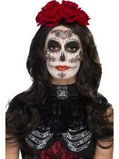 GLAMOUR GIORNO DEI MORTI Kit trucco da donna Halloween FACCIA paintes Costume