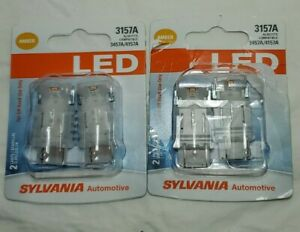 2 Sylvania 3157A Amber Led Automotive Mini Bulb, Pack Of 2.