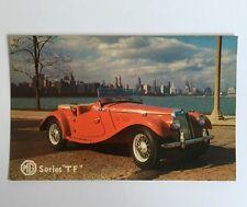 """Vtg 1950's MIDGET MG """"TF"""" Postcard Merrill David Studios NOS Antique Car"""