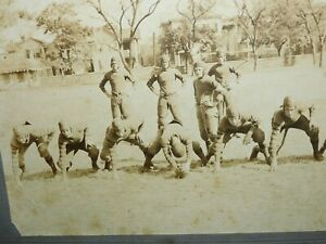 EARLY 1900'S PORTER MILITARY ACADEMY FOOTBALL TEAM PHOTOGRAPH > FREE SHIPPING
