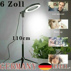 6'' LED Ring Licht Ringleuchte Fotolicht Studiolicht Lampe für Selfie Live DHL*