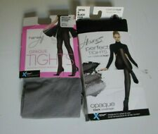 Two Hanes Tights  Size Medium Black and Mineral stone