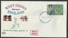 ANTIGUA 2004 WEST INDIES v ENGLAND 4th Test Match DKS Souvenir Cover.