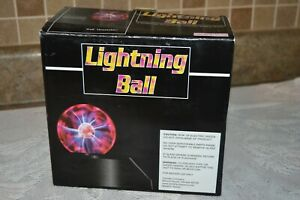 Magic plasma sphere Lightning Bolt crystal globe ball ~ touch and sound Carlisle
