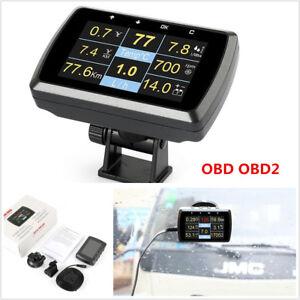 Car OBD OBD2 Gauge Driving SpeedMeter Fuel Consumption Water Temperature Display