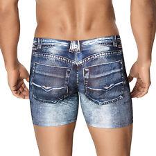 Clever Moda Boxer Indigo Jean Blue Men's Underwear