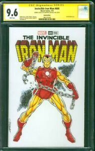 Invincible Iron Man 600 CGC SS 9.6 Original art Issue 100 Homage Sketch 2018