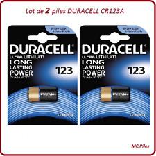2 piles CR123A 3V spécial appareil photo Duracell, livraison rapide et gratuite