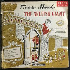 Oscar Wilde The Selfish Giant 78 Rpm VG 1946 USA Decca C.U. 116 RARE