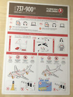 Turkish Airlines 737-900ER Safety Card (RARE)