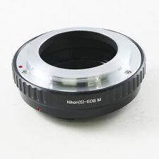 Nikon S Mount RF Adaptateur objectif pour Canon EOS M EF-M Caméra Adaptateur m2 m3 m10