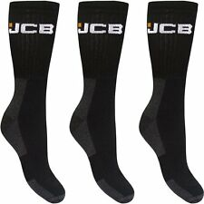 3 pairs Mens JCB Boot Socks Work Wear reinforced heel and toe