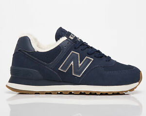 New Balance 574 Women's Navy Incense Athletic Casual Lifestyle Sneakers Shoes
