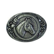 Gürtelschließe Pferdekopf umrahmt 4,0 cm  Reiten Reiter Western Rodeo