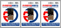 Front & Rear Brake Pads (3 Pairs) for Moto-Guzzi 750 Targa 1989