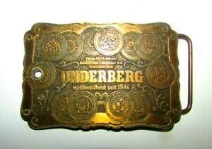 Vintage UNDERBERG Belt Buckle German Brass Rare Find,Great Condition Since 1846s