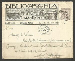 **OSBURGH - ARGENTINA. 1942. CENSORED COVER. BILIOGRAFIA DE LA LIBRERIA TOMAS PA