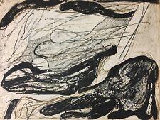 """SIGNED Concetto POZZATI """"Untitled"""" 1961 Lithograph (18/25) Informale Figurale"""