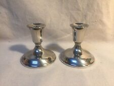 Wm. A. Rogers Sterling Candle Stick Holders