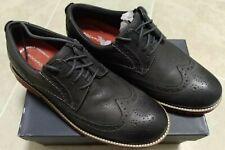 New Men's Rockport Marshall Wing Tip Oxford Castlerock Grey Leather US 8W EU 41