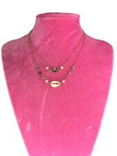Gold Chain Shell Bead Choker Necklace Crystal Jewelry