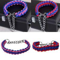 Pet Dog Lead Ropes Collar Training Strap Braided Leash Traction Nylon Rope G