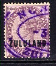 Zululand 1888 - 93 QV 1d Deep Purple used SG 2 ( M1363 )
