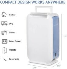 Ivation 13-Pint Small-Area Desiccant Dehumidifier Compact and Quiet - With Conti