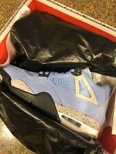 DS Air Jordan 4 Retro University Blue UNC CT8527-400 Size 10