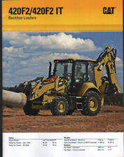 Caterpillar 420F2 and 420F2 IT Backhoe Loader Brochure Leaflet