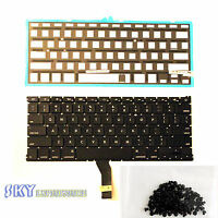 """100% New Apple Macbook Air A1370 11"""" US Keyboard Backlight 10 11 12 (with Screws"""