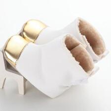 @Bottom Kids Baby Snow Prewalker Shoes Winter Girl Cute Soft Sole Crib Boots 11