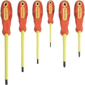 Series Of 6 Screwdrivers Isolated VDE - For Tech And Electricians Proxxon 22630