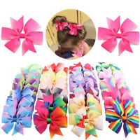 US 40PCS Baby Girls Hair Bows Boutique Alligator Clip Grosgrain Ribbon Hairpins