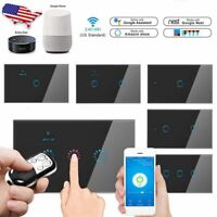 5pcs 1/2/3 Gang Smart WiFi Touch Light Wall Switch Panel for Amazon Alexa Google