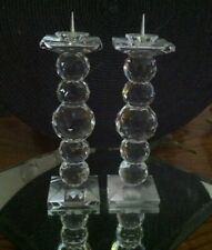 "Swarovski 6"" Crystal Candle Holders w Pin Tip"