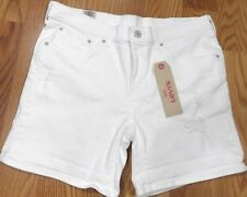 NWT Levis White Stretch Destroyed Classic Denim Shorts Size 31 34x6  P395