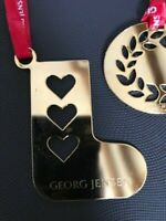 GEORG JENSEN STOCKING (1) Christmas Decorations 24k GOLD Limited Edition NEW