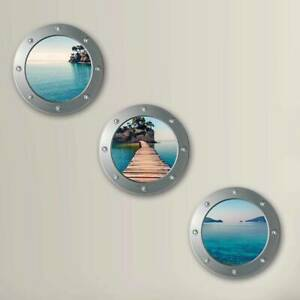 Decoration Simulation Window Stickers Pvc Landscape Picture Post Adult Wall JH