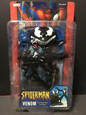 "Marvel Legends Spider-Man Classics Venom with trap base 6"" Action Figure ToyBiz"