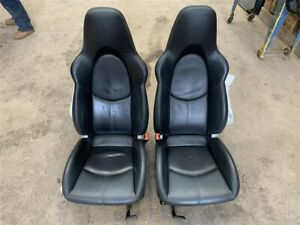 Porsche 997 Sports Seats Black Leather Deployed Side Bags / Damaged 2005 Year